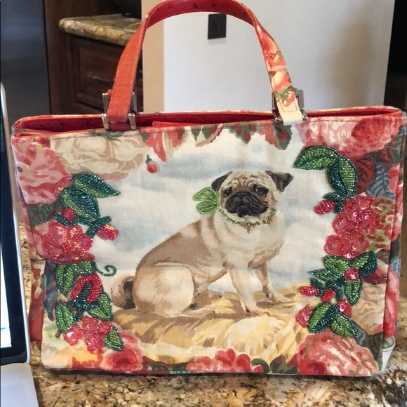 544eb840865 ... Isabella Fiore Bags Pug Dog Embellished Handbag Poshmark